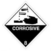 Hazard safety sign - Corrosive 005